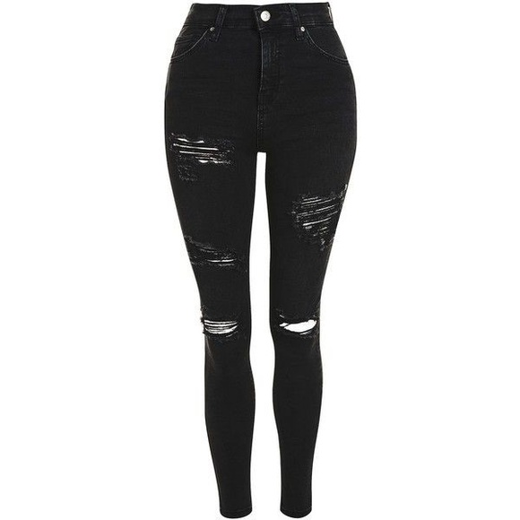 2a6c5d70536 Topshop Jeans   Black Super Ripped Jamie Skinny High Waisted   Poshmark